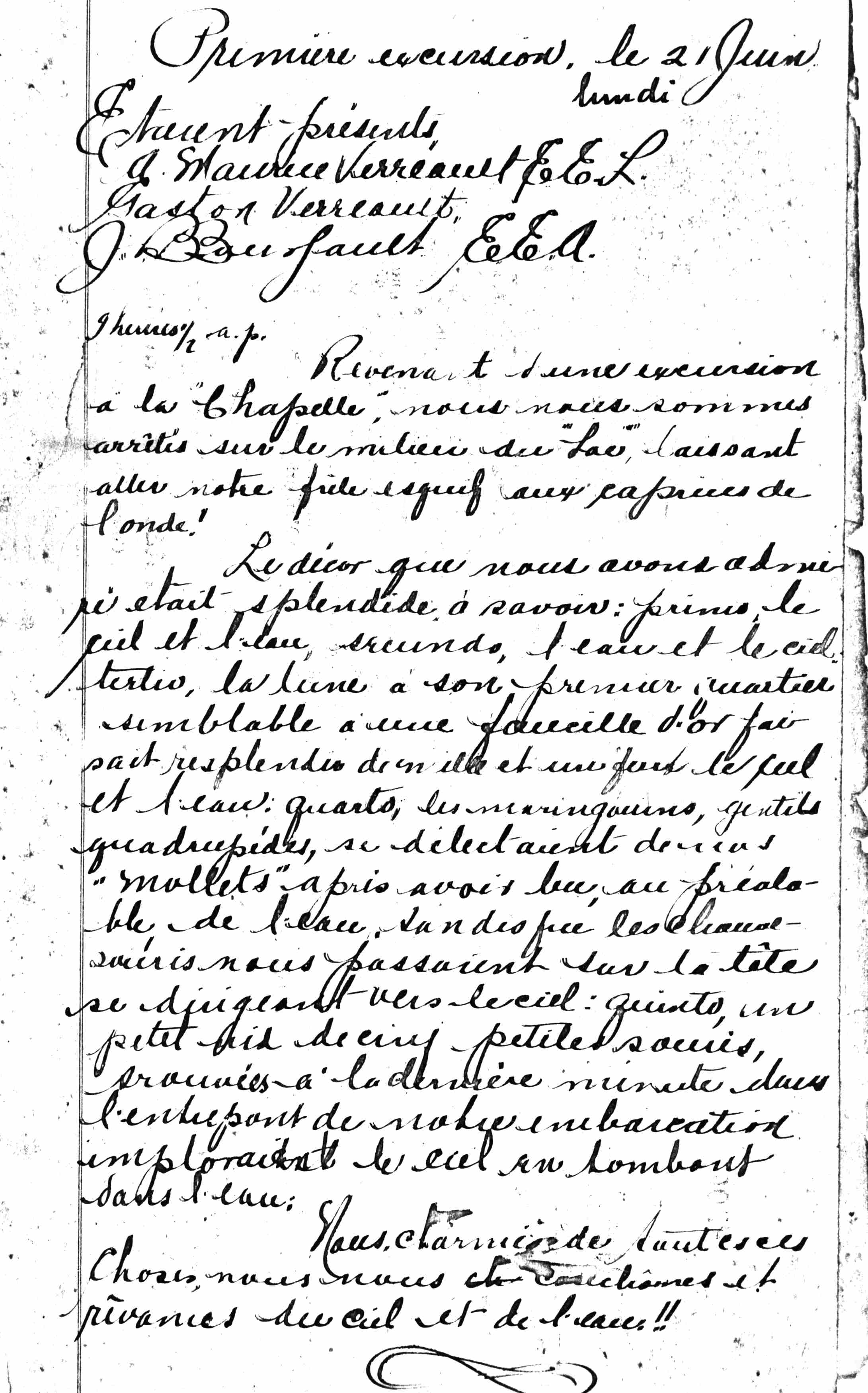 Photocopy of a document written with feather-penned ink.
