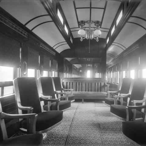 Passenger wagon furnishings.