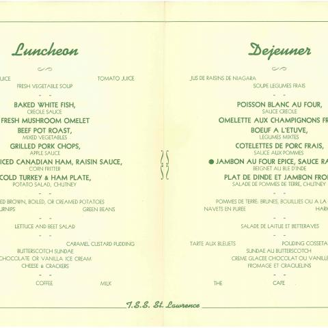 A bilingual menu.