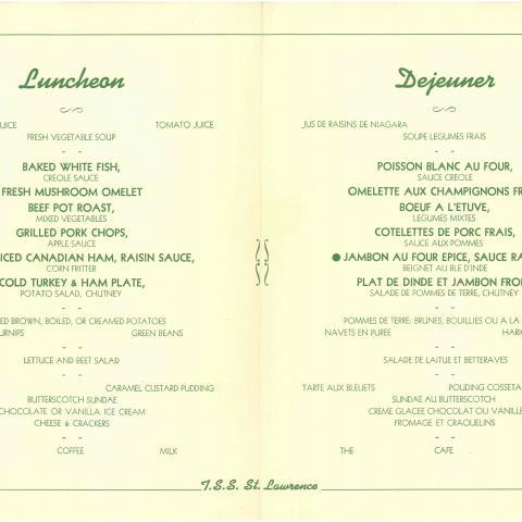 Numérisation d'un menu bilingue.